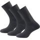 Devold Daily Light Socks 3-Pack Black